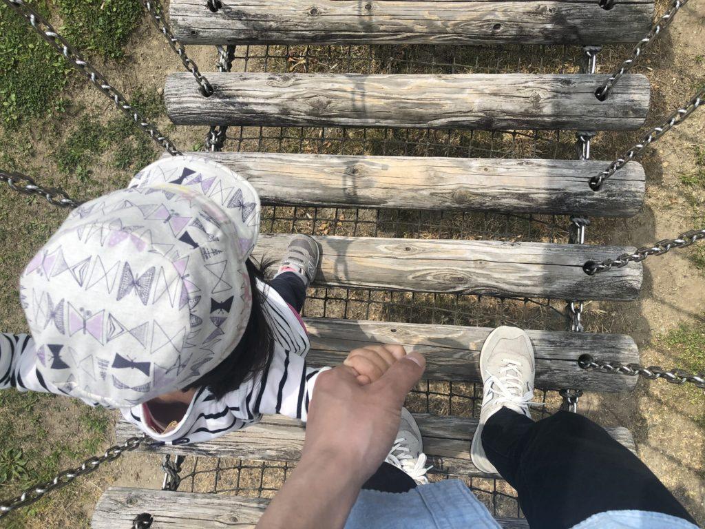 アスレチックの吊り橋。
